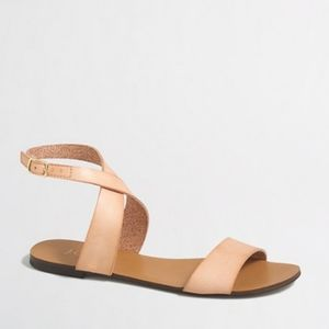 J. Crew blush colored leather sandals  size 7